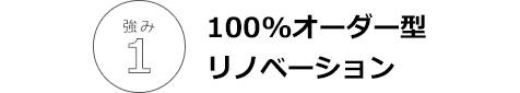 100%オーダー型リノベーション